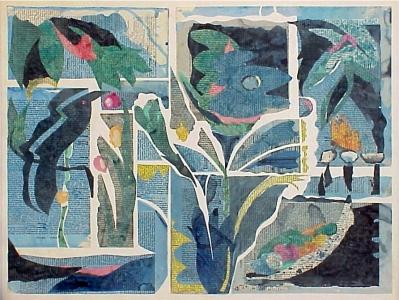 Blue Paper Garden